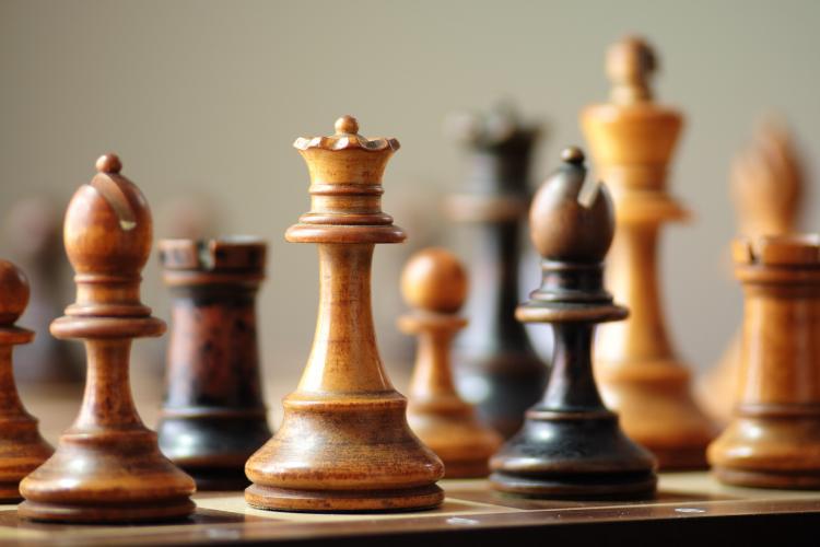 Pièces d'échecs pour la déco